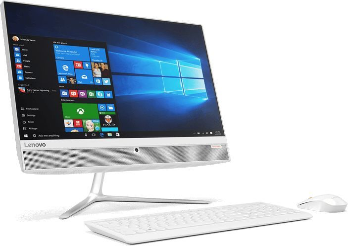 Моноблок LENOVO 510-23ISH, Intel Pentium G4400T, 4Гб, 500Гб, Intel HD Graphics 510, DVD-RW, Free DOS, белый [f0cd007crk]