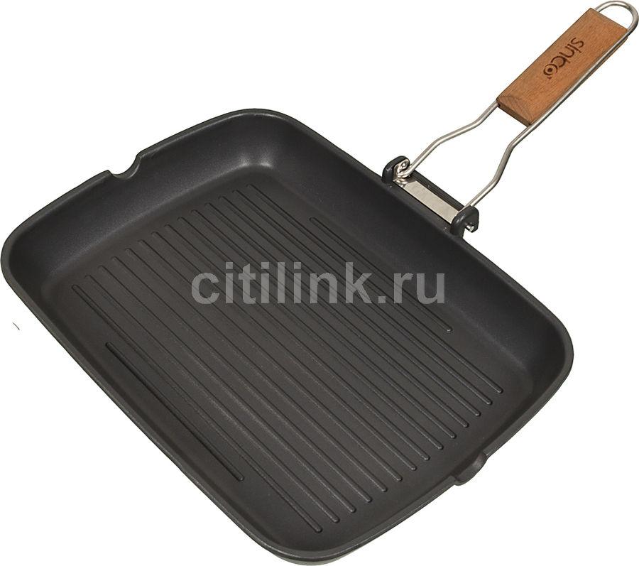 Сковорода-гриль SINBO SP 5217, 35x25см, съемная ручка,  без крышки,  черный