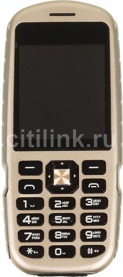 Мобильный телефон GINZZU R1D,  золотистый