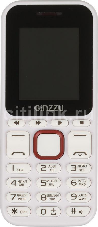 Мобильный телефон GINZZU M102D mini  белый/красный
