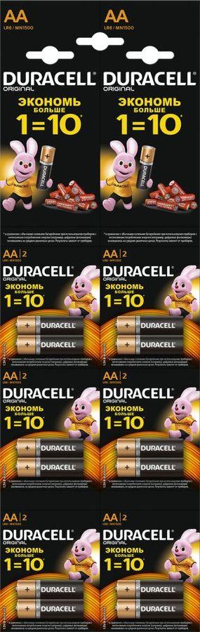 Батарея DURACELL Basic LR6-2BL,  12 шт. AA