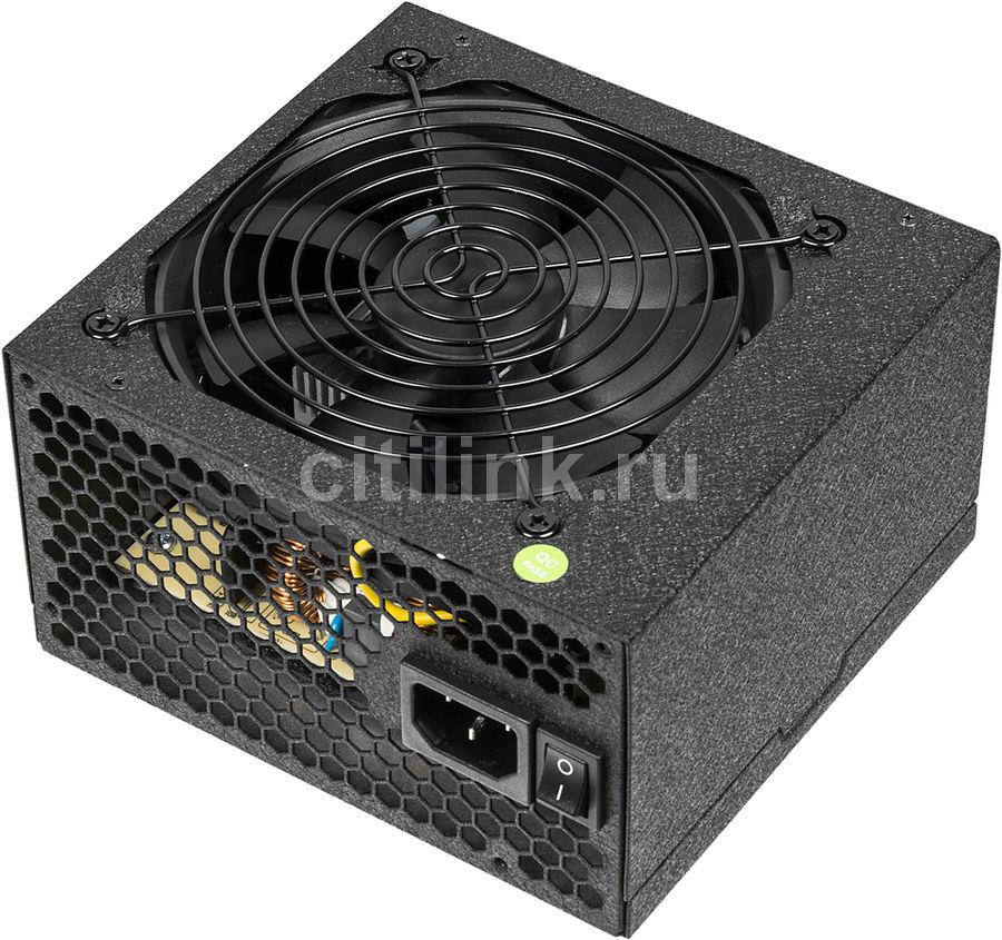 Блок питания Accord ATX 650W ACC-650W-80BR 80+ bronze (24+4+4pin) 120mm fan 6xSATA (отремонтированный)
