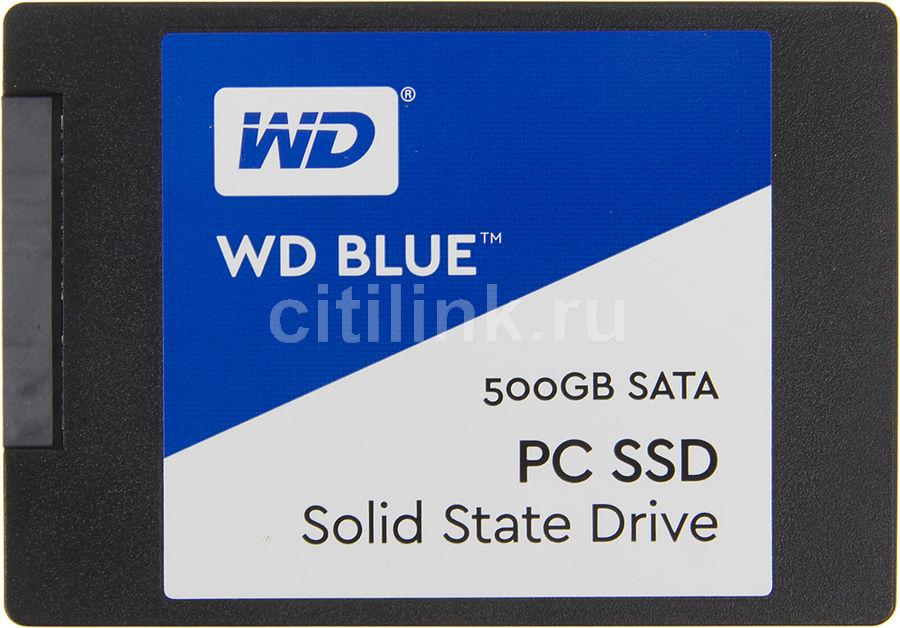 """SSD накопитель WD Blue WDS500G1B0A 500Гб, 2.5"""", SATA III"""
