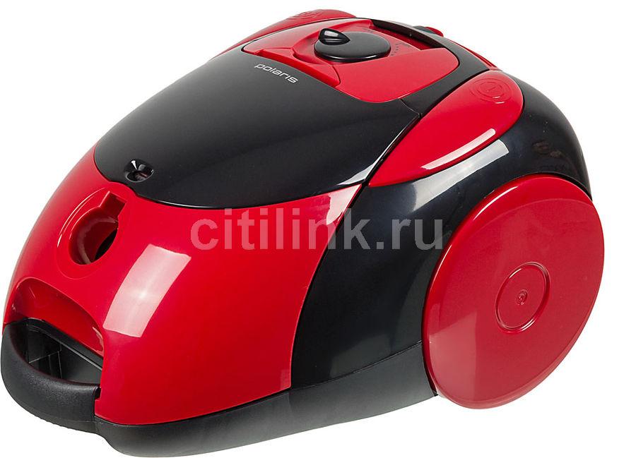 Пылесос POLARIS PVB 1801, 1800Вт, красный/черный