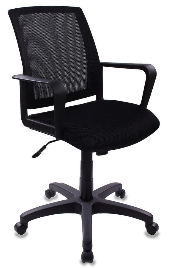 Кресло БЮРОКРАТ CH-498, на колесиках, ткань, черный [ch-498/tw-11]