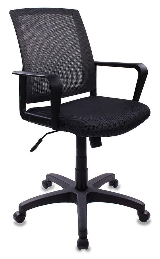 Кресло БЮРОКРАТ CH-498, на колесиках, ткань, серый [ch-498/dg/tw-12]