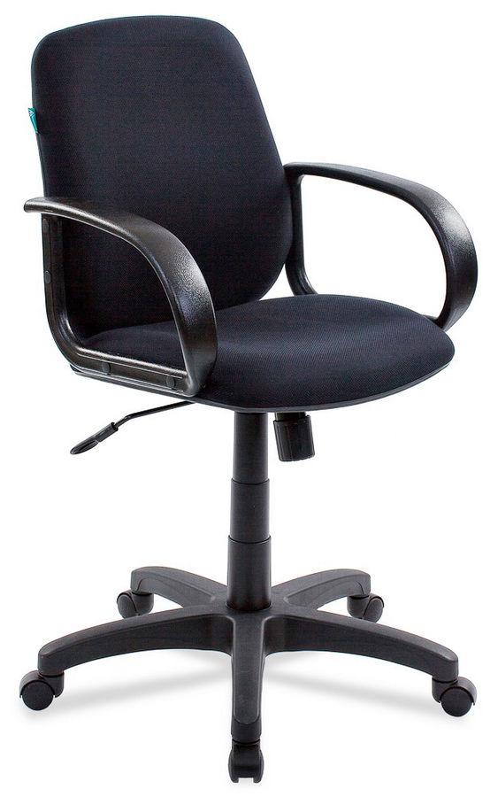 Кресло БЮРОКРАТ CH-808AXSN-Low, на колесиках, ткань, черный [ch-808-low/black]
