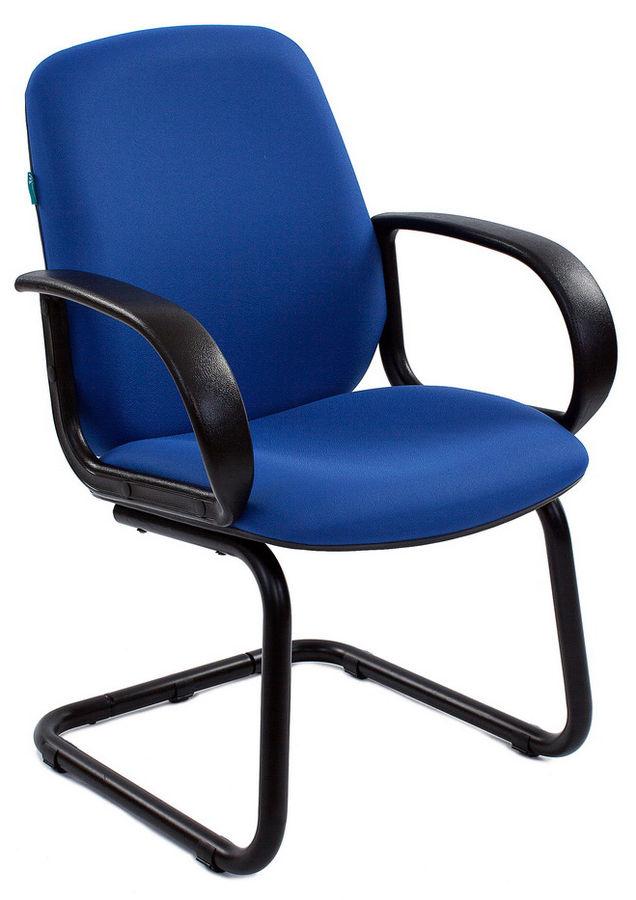 Кресло БЮРОКРАТ CH-808-Low-V, на полозьях, синий [ch-808-low-v/blue]