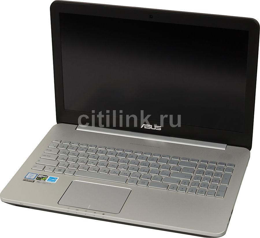 "Ноутбук ASUS N552VW-FY250T, 15.6"", Intel  Core i7  6700HQ 2.6ГГц, 8Гб, 1000Гб, nVidia GeForce  GTX 960M - 2048 Мб, DVD-RW, Windows 10, 90NB0AN1-M03120,  серый"