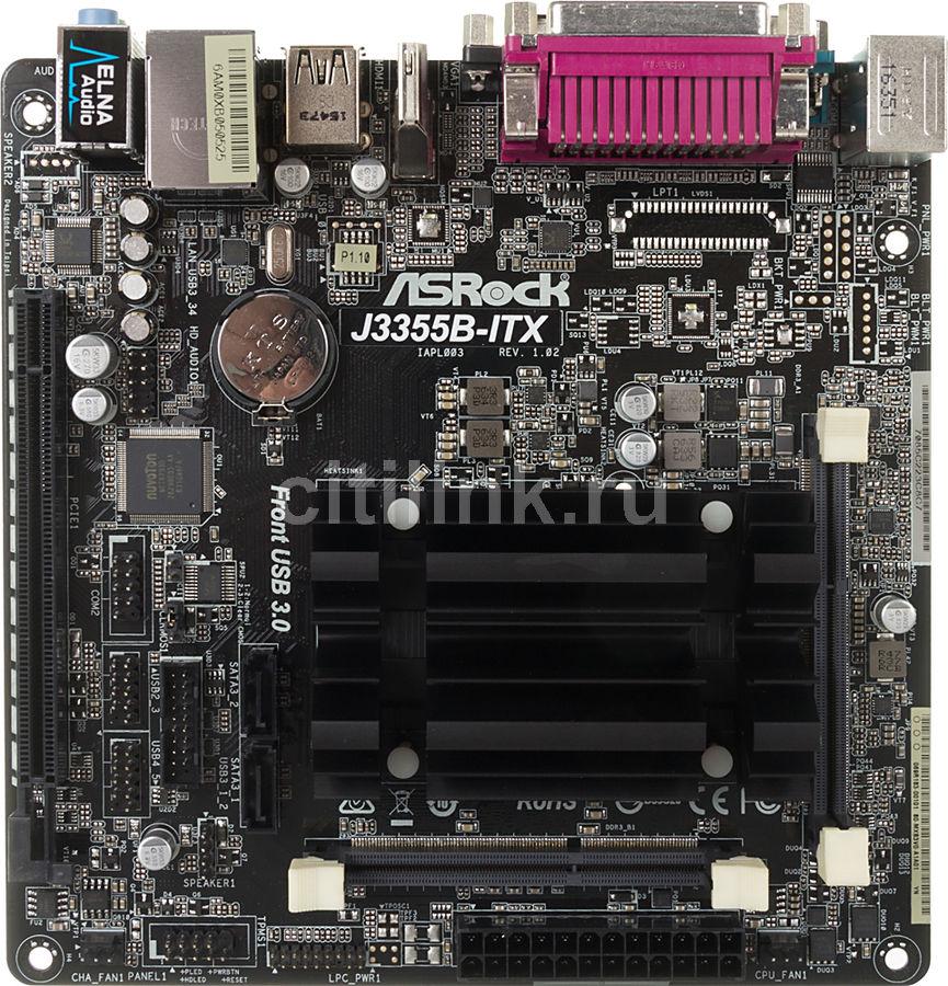 Материнская плата ASROCK J3355B-ITX, mini-ITX, Ret