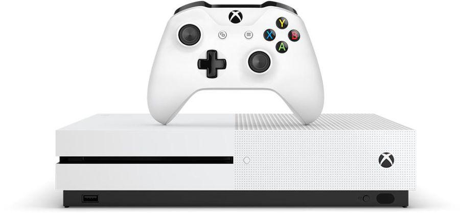 Игровая консоль Microsoft Xbox One S ZQ9-00048 белый в компл.: игра: Minecraft Favorites(Б/У)