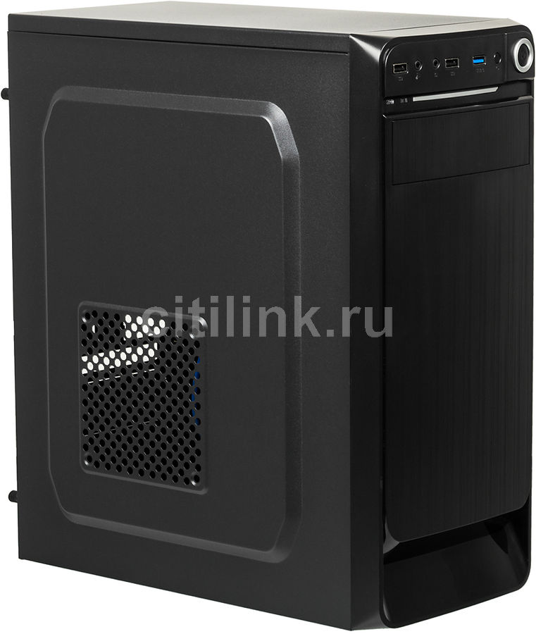 Корпус ATX ACCORD E-01, Midi-Tower, без БП,  черный