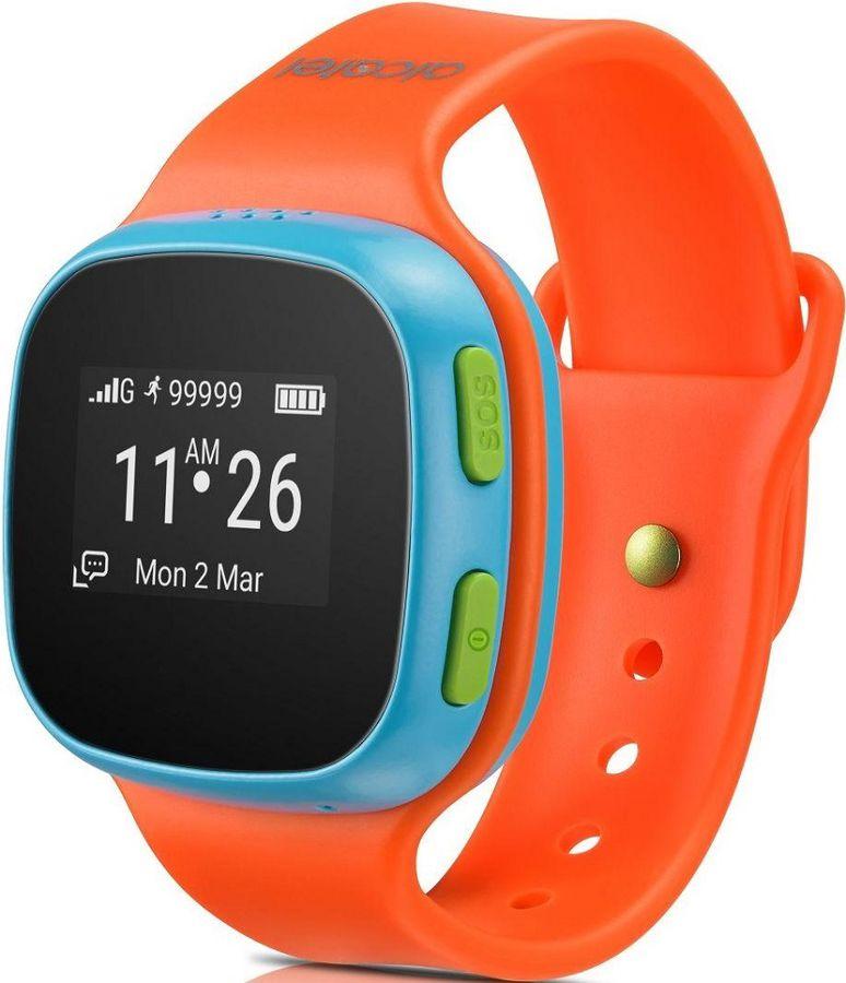 "Смарт-часы ALCATEL Move Time Track&Talk SW10,  0.95"",  голубой / оранжевый"