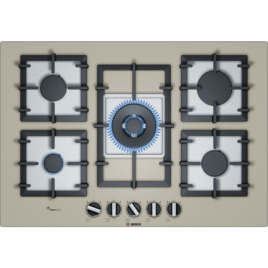 Варочная панель BOSCH PPQ7A8B90,  независимая,  кварцевый металлик
