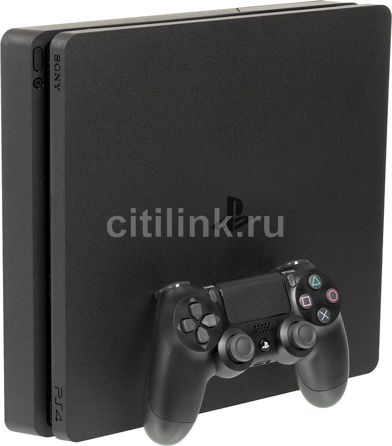 Игровая консоль SONY PlayStation 4 Slim с 1 ТБ памяти, играми: Watch Dogs 2, Watch Dogs,  CUH-2008B, черный