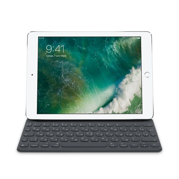 Клавиатура APPLE Smart Keyboard, iPad Pro 9.7 черный [mnkr2rs/a]
