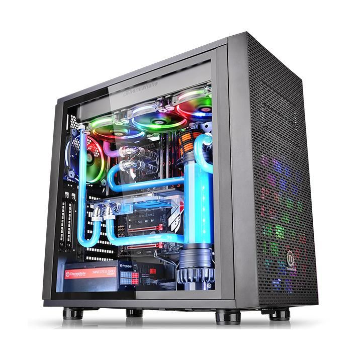 Корпус ATX THERMALTAKE Core X31 TG, Midi-Tower, без БП,  черный