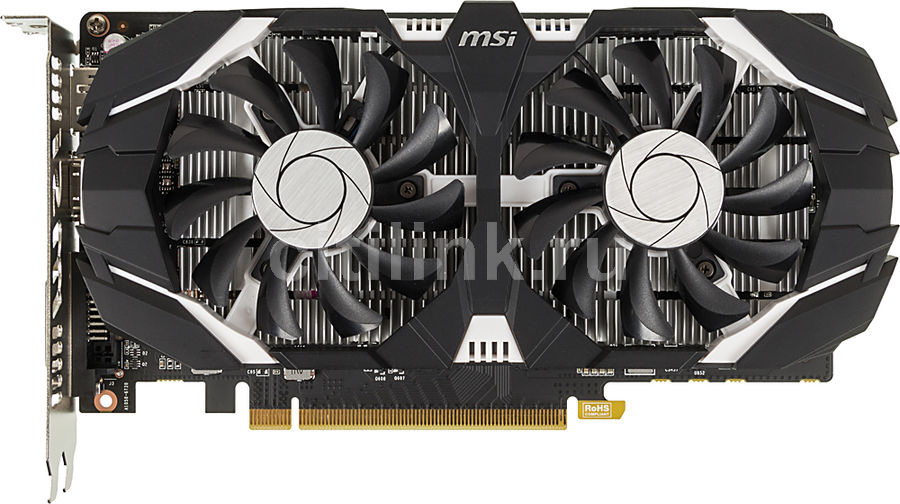 Видеокарта MSI nVidia GeForce GTX 1050TI , GeForce GTX 1050 Ti 4GT OC, 4Гб, GDDR5, OC, Ret видеокарта asus dual gtx1060 o6g 6гб gddr5 oc ret