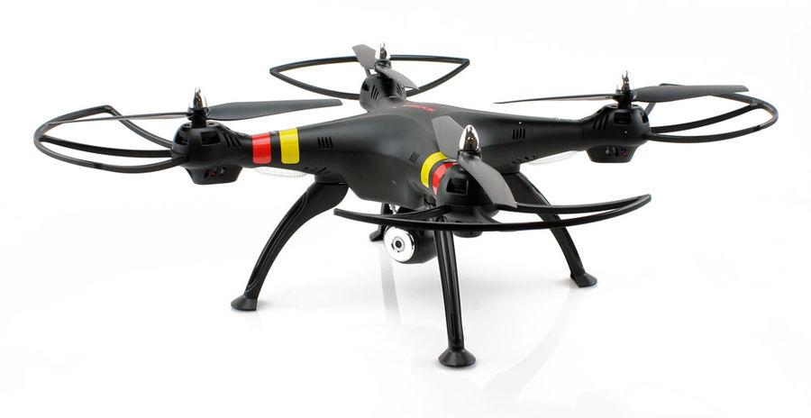 Квадрокоптер SYMA X8W, с камерой, черный [x8w black]