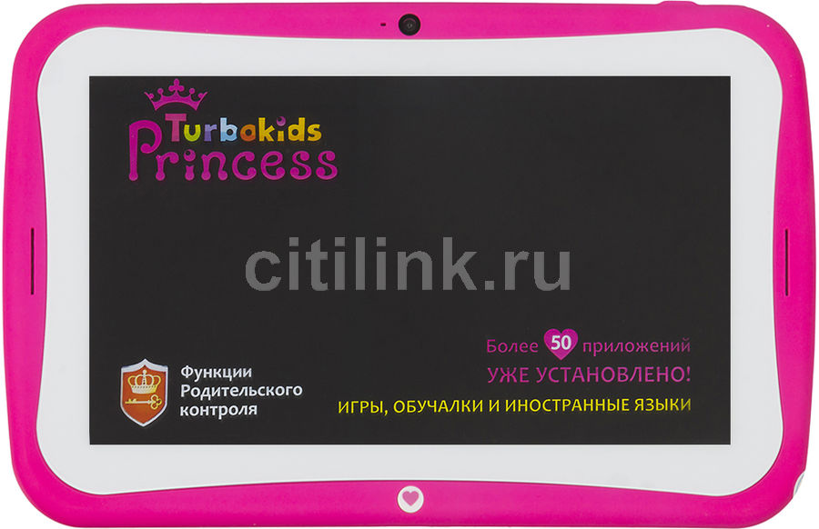 Детский планшет TURBO TurboKids Princess New 8Gb, Wi-Fi, Android 5.1, розовый