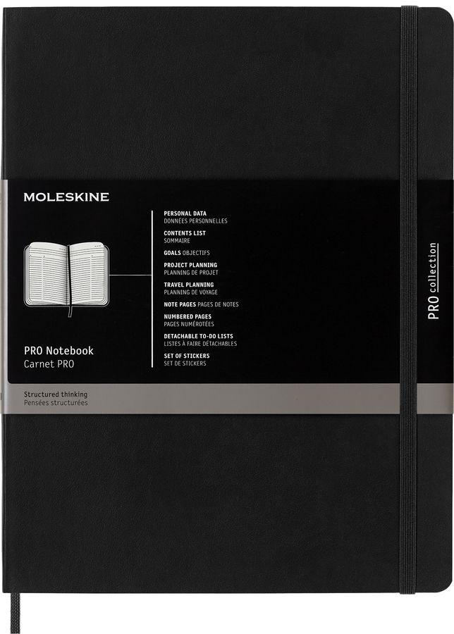 Блокнот Moleskine PROFESSIONAL SOFT XLarge 190х250мм 192стр. мягкая обложка черный