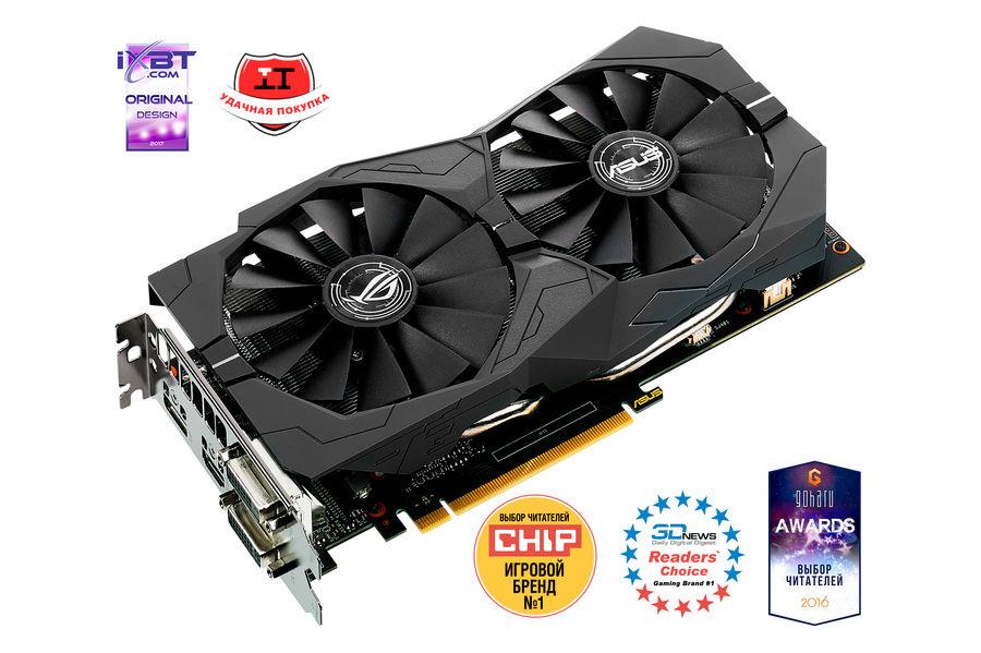 Видеокарта ASUS nVidia  GeForce GTX 1050TI ,  STRIX-GTX1050TI-O4G-GAMING,  4Гб, GDDR5, OC,  Ret