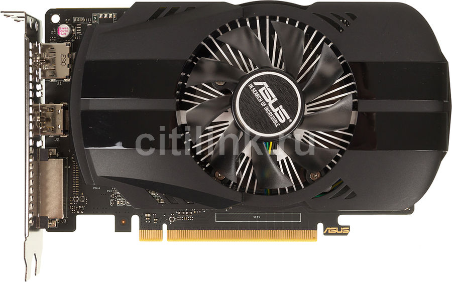 Видеокарта ASUS nVidia  GeForce GTX 1050TI ,  PH-GTX1050TI-4G,  4Гб, GDDR5, Ret