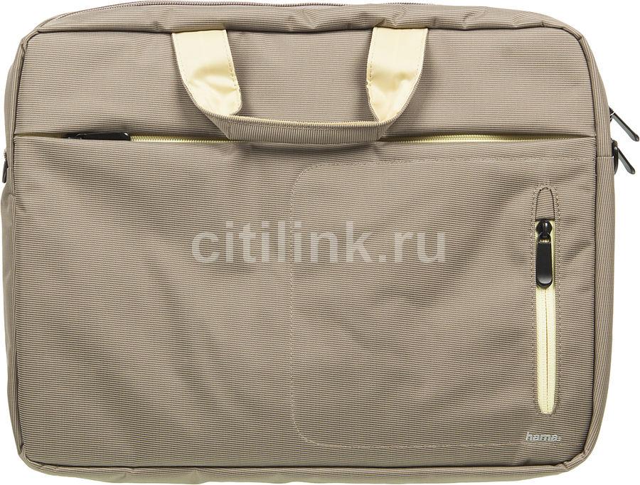 """Сумка для ноутбука 15.6"""" HAMA Marseille Style, коричневый/желтый [00101283]"""