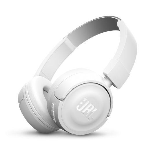 Наушники с микрофоном JBL T450BT, Bluetooth, накладные, белый [jblt450btwht]
