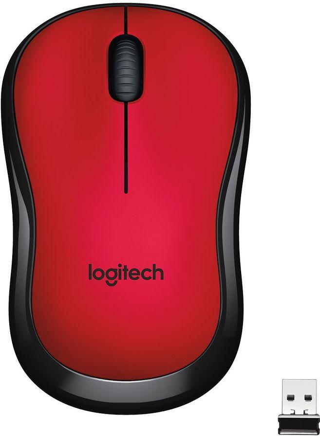 Мышь LOGITECH M220 Silent оптическая беспроводная USB, красный [910-004880]