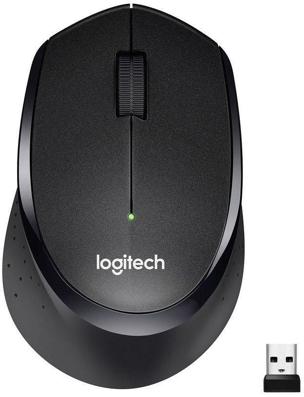 Мышь LOGITECH M330 Silent Plus оптическая беспроводная USB, черный [910-004909]