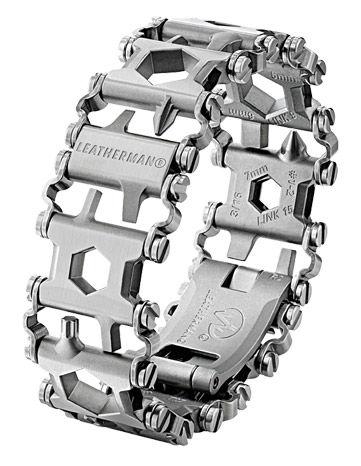 Браслет многофункц. Leatherman TREAD Metric (832325) серебристый подар.коробка