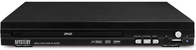 DVD-плеер MYSTERY MDV-724U,  черный