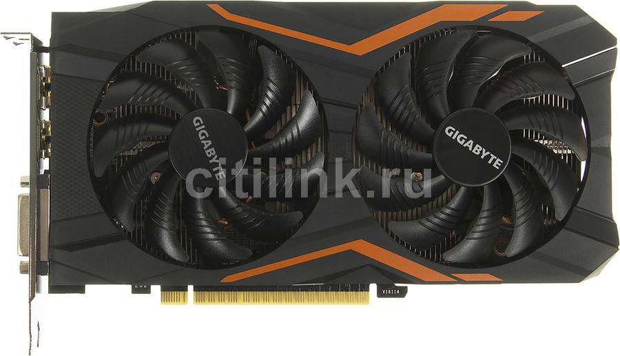 Видеокарта GIGABYTE nVidia  GeForce GTX 1050TI ,  GV-N105TG1 GAMING-4GD,  4Гб, GDDR5, OC,  Ret