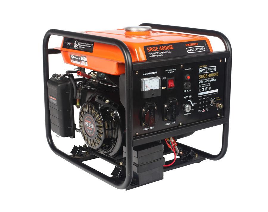 Бензиновый генератор PATRIOT 4000iE,  220 В,  3.5кВт [474101622]