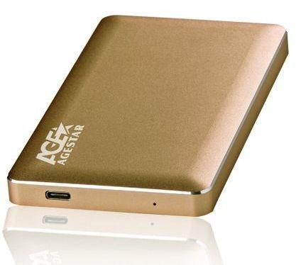 Внешний корпус для  HDD AGESTAR 3UB2A16C, золотистый