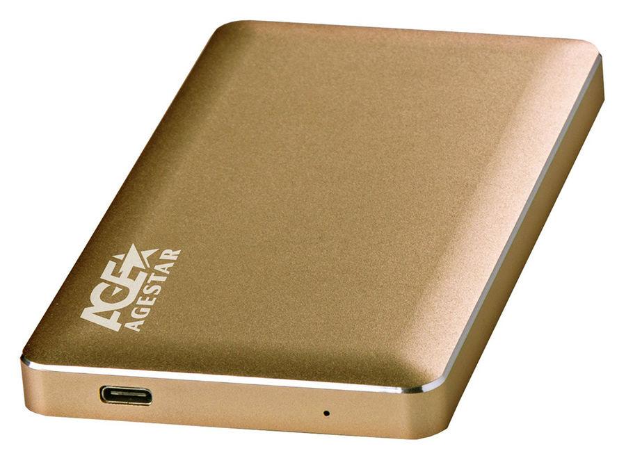 Внешний корпус для  HDD AGESTAR 31UB2A16C, золотистый