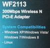 Сетевой адаптер WiFi NETIS WF2113 PCI Express x1 вид 10
