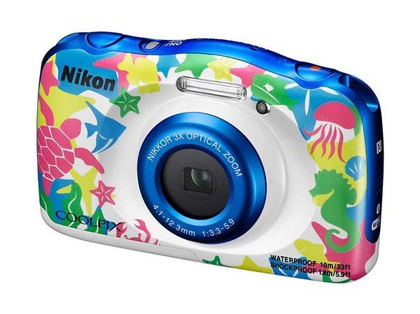 Цифровой фотоаппарат NIKON CoolPix W100,  аквамарин