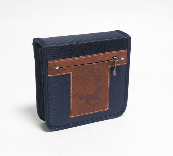 Портмоне DIGITEX Highway DCAWH-040-PP, синий+коричневый, для 40 дисков
