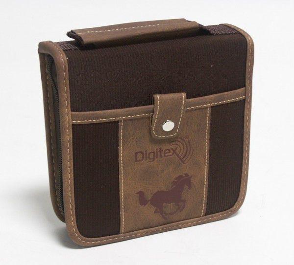 Портмоне DIGITEX Allroad DCAWAL-040-PP, коричневый, для 40 дисков