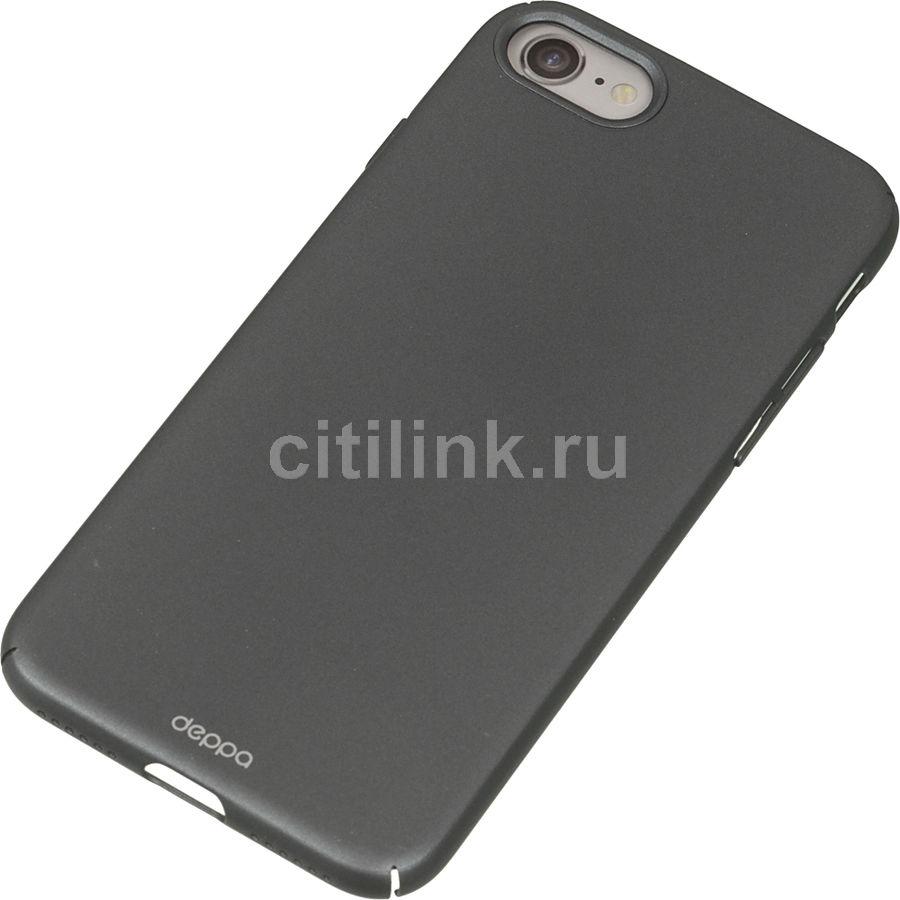 Чехол (клип-кейс) DEPPA Air Case, для Apple iPhone 7, графит [83269]
