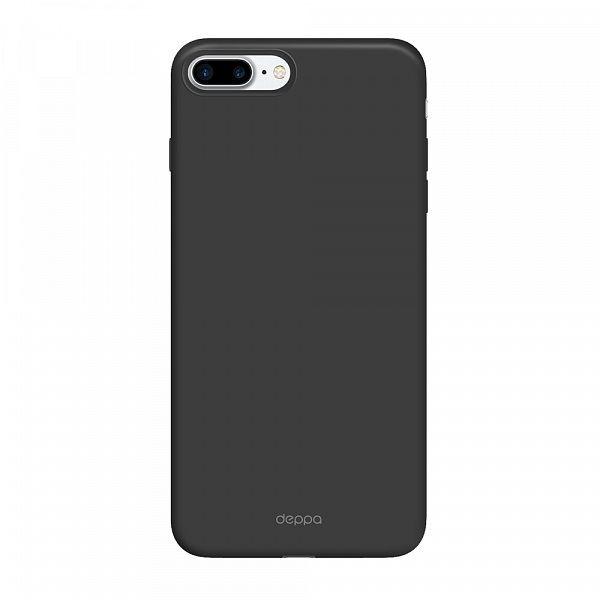 Чехол (клип-кейс) DEPPA Air Case, для Apple iPhone 7 Plus, черный [83272]