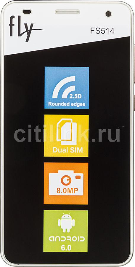 Смартфон FLY Cirrus 8 FS514  золотистый