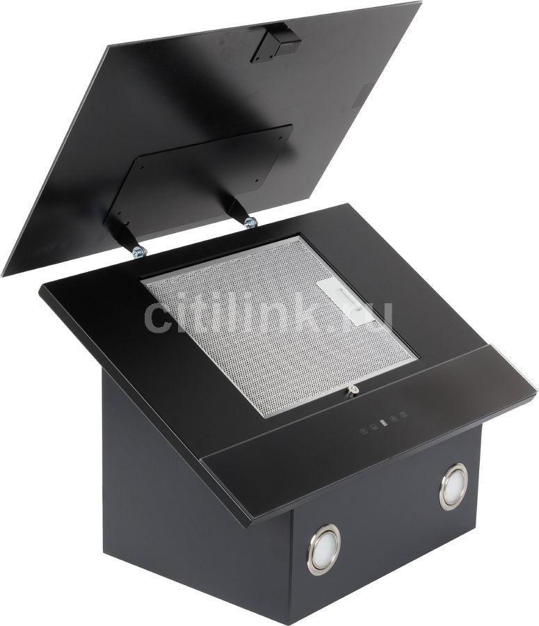 Каминная вытяжка ELIKOR Жемчуг 60П-700-Е4Д,  1 мотор,  сенсорное,  антрацит/черное стекло
