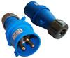 Вилка Lanmaster LAN-IEC-309-32A1P/M IEC 309 32A 250V blue вид 1