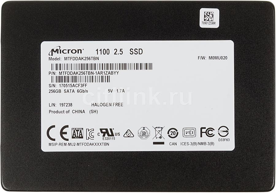 Накопитель SSD CRUCIAL Micron 1100 MTFDDAK256TBN-1AR1ZABYY 256Гб, 2.5
