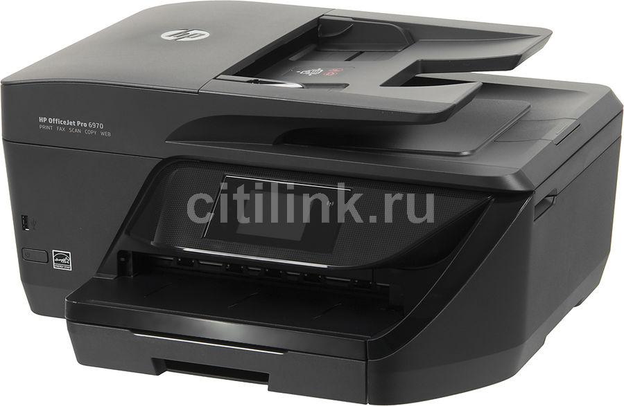 МФУ струйный HP OfficeJet Pro 6970 e-AiO, A4, цветной, струйный, черный [j7k34a]