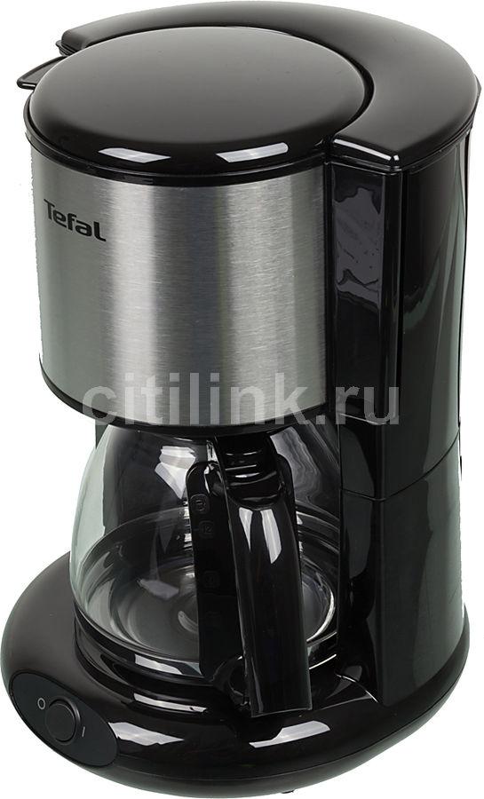 Кофеварка TEFAL CM361838,  капельная,  серебристый [7211002512]