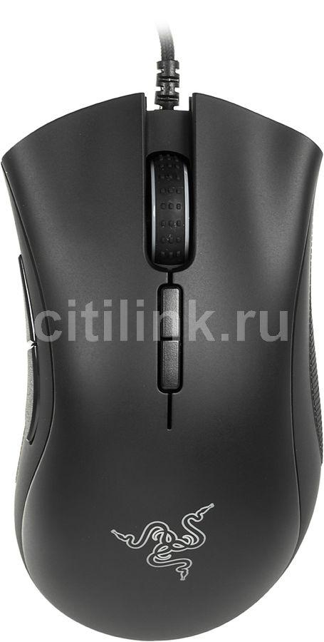 Мышь RAZER DeathAdder Elite, игровая, оптическая, проводная, USB, черный [rz01-02010100-r3g1]